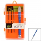HuiJiaQi 8929 6-in-1 Multi-Purpose Precision Screwdriver Set - Silver + Deep Blue