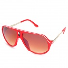 Oreka 9046 Fashion UV400 Protection Anti-Glare Sonnenbrille - Red + Tan
