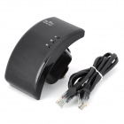 Portable 2.4GHz 802.11b/g/n 300Mbps Wireless Wi-Fi Repeater - Black (AC 100-240V / UK Plug)