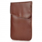 Radiation-Proof Signal Shielding PU Leather Bag for iPhone 4 / 4S - Dark Brown