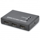 HDMI Switcher w/ 3-Input 1-Output / Remote Controller - Black