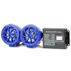 D13022702X Anti-Theft Alarm Digital MP3 Player Speaker w/ FM / SD Slot for Motorcycle - Blue (2 PCS)