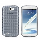 IMAX Protective Lattice Pattern TPU Back Case for Samsung N7100 / N7102 - Translucent Grey