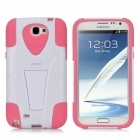 IMAX 2-in-1 Detachable Back Case w/ Stand for Samsung N7100 / N7102 - White + Pink