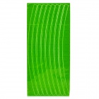 040807 Bicycle Reflective Wheel Stripe Sticker - Green
