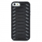 Protective Creative Tire Pattern Back Case for Iphone 5 - Black + Grey