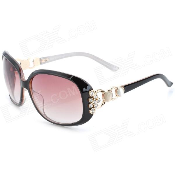 Fashion UV400 Protection Resin Lens Sunglasses - Black fashion uv400 uv protection resin lens sunglasses with pouch