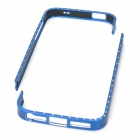 Stylish Aluminum Magnesium Alloy + Rhinestone Bumper Case for Iphone 5 - Dark Blue