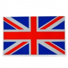 The U.K. Flag Pattern Glisten Car Decoration Sticker - Red + Blue + White