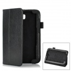 Lychee Pattern Protective PU Case w/ Holder for Samsung Galaxy Note 8.0 - Black