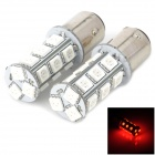 115750-18R 1157 3.5W 200lm 660nm 18-5050 LED SMD Red Light Car Ligue Sinais / Head Lamp (2 PCS)