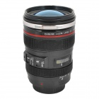 C6 Unique Simulation Dummy Canon EF 24-105mm Lens Thermos Cup Mug w/ Carrying Bag - Black (350ml)