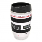 B5B Unique Simulation Dummy Canon EF 24-105mm Lens Thermos Cup Mug - White + Black (350ml)