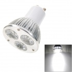 GU10 3W 3-LED 265lm 6000K White Light Spotlight (AC 85~265V)