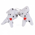 Cute Puppy Curtain Clasps/Holders - White (2-Pack)