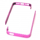 Aluminum Magnesium Alloy Frame Case w/ Rhinestone for Iphone 5 - Deep Pink