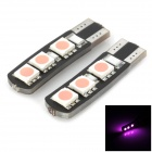 LY276 Decoding T10 1.8W 84lm 6-5050 SMD LED Pink Light Car Width Lamp (2 PCS)