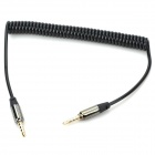 3.5mm Male to Male Spring Coil Audio Cable - Black (Max. 120cm)