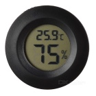 "Cigar Box Shape 1.0"" LCD Electric Thermometer Humidity Meter - Black (1 x AG13)"