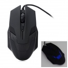 AJ010 USB 2.0 Wired Optical 2000dpi Gaming Mouse - Black
