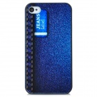 SA0208Protective Jeans Style Back Case for Iphone 4 / 4S - Deep Blue + Black