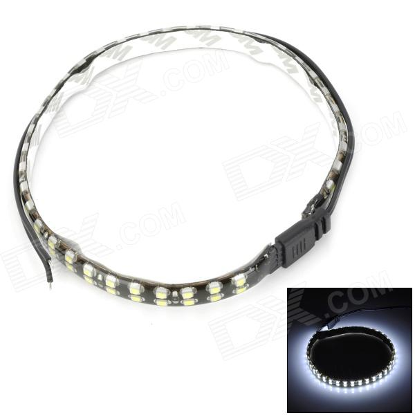 8.5W 360lm 6500K 72-3528 SMD LED White Light Car Decoration Strip Lamp - Black + Yellow (55cm) best full spectrum 300w led cultivate light for hydroponics greenhouse grow tent led lamp suitable for all plant growth 85v 265v
