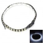 8.5W 360lm 6500K 72-3528 SMD LED White Light Car Decoration Strip Lamp - Black + Yellow (55cm)
