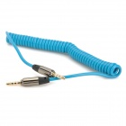 3.5mm macho a macho cable de audio Spring Coil - Azul (máx. 120 cm)