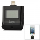 iPEGA PG-I5006 1.0'' LCD Portable Alcohol Tester for iPhone + iPad + iPod Touch - Black