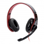 Rajoo X5 Wired Folding Headphones w/ Microphone - Black + Red (3.5mm Plug / 180cm)