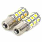 115650-27WN 1156 5W 300lm 4500K 27-5050 SMD LED Warm White Light Car Turn Signals Lamp (2 PCS)