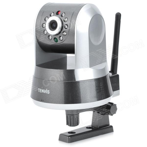 TENVIS IPROBOT3 H.264 1MP remoto IR-CUT Câmera IP Interior Vigilância w / Wi-Fi / 10-LED Night Vision