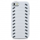 Protective Kreative Tire Muster zurück Fall für iPhone 5 - White + Black