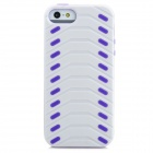 Protective Kreative Tire Muster zurück Fall für iPhone 5 - White + Purple