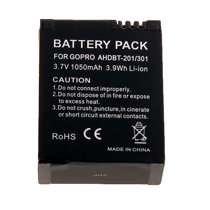 GoPro Full-Decoded 3.7V 1050mAh Li-ion Battery Pack