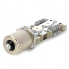 115671079 1156 12W 600lm 560 ~ 590nm 4-5060 SMD LED Luz Amarilla Intermitentes coche - blanco + plata