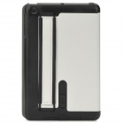 Protective PU Leather + Plastic Flip-Open Handheld Case w/ Stand for Ipad MINI - Black + White