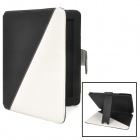 Protective Flip-Open PU Leather Case w/ Stand + Card Slot for Ipad 2 / 3 / 4 - Black + White