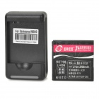 "3.7V ""2900mAh"" Rechargeable Battery + Battery Charger w/ USB Port for Samsung i9000 / i9088 - Black"