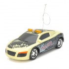 ZhenCheng 333-S012B Rechargeable 2-CH Radio Control R/C Car w/ Light - Beige + Black