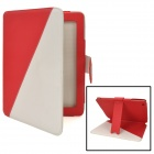 Protective Flip-Open PU Leather Case w/ Stand + Card Slot for Ipad 2 / 3 / 4 - Red + White