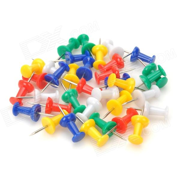 0021 Desk Office Colored ABS + Steel Push Pins - White + Yellow + Blue + Green + Red 0021 desk office colored abs steel push pins white yellow blue green red