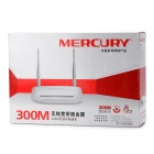 Mercury MW300R Wireless 300Mbps 4-LAN Dual-Antenna Wi-Fi Router - White + Grey