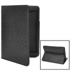 "Grid Pattern Protective Flip-Open PU Case w/ Stand for 7.9"" iPad Mini - Black"