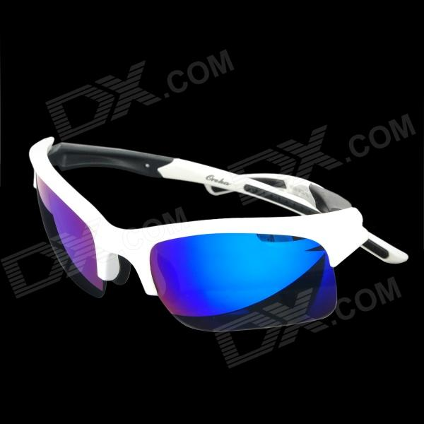 OREKA WG006 Outdoor Sport UV400 Protection Goggles - White + Revo Blue