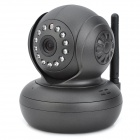 300KP 802.11b/g IP Network Internet Surveillance IP Camera w/ 13-LED Night Vision / TF - Black