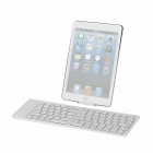 Folding Rechargeable 80-Key Bluetooth 3.0 Keyboard for Iphone + Ipad + More - White
