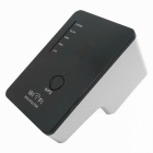 WL-WN523N2 2.4GHz Wall-Plug Wireless-N Router w/ Wi-Fi Repeater - Black + White (2-Flat-Pin Plug)