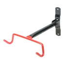 Bike Bicycle Steel Wall Mount Hook Holder - Red + Black