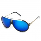 OREKA 3769 Fashion UV400 Protection Polarized Sunglasses - Black + Revo Blue